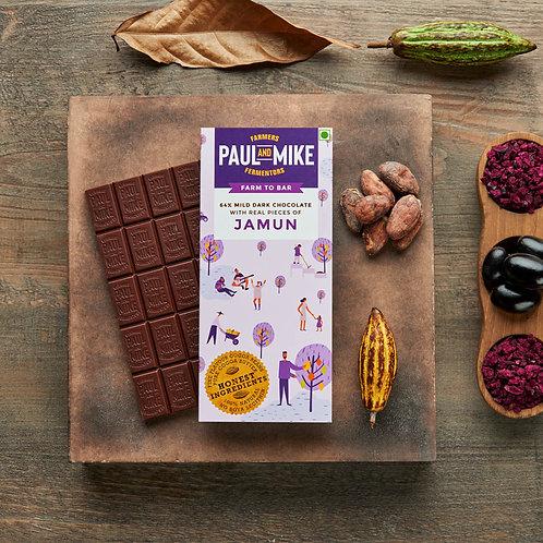 64% MILD DARK JAMUN CHOCOLATE (PACK OF 2)
