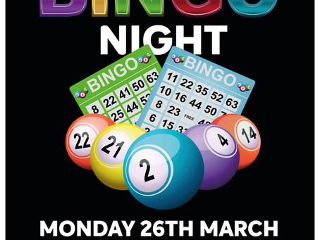 Bingo Night at Paddy Malones....