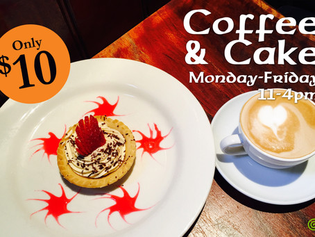 Coffee and Cake Special $10