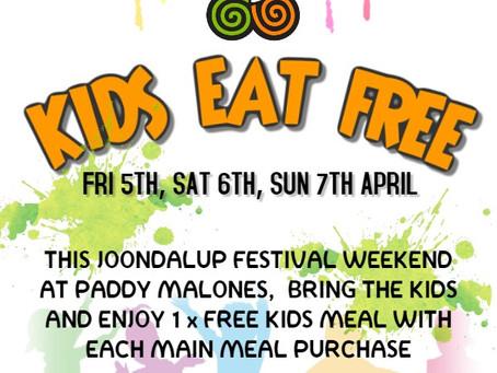 Kids Eat Free This Weekend.