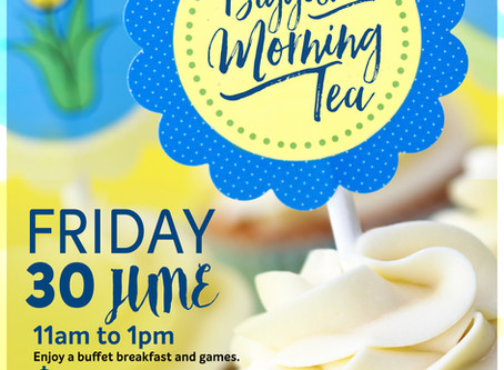 Join in on Paddy's Biggest Morning Tea xx