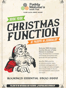 Have your Christmas Function with us!