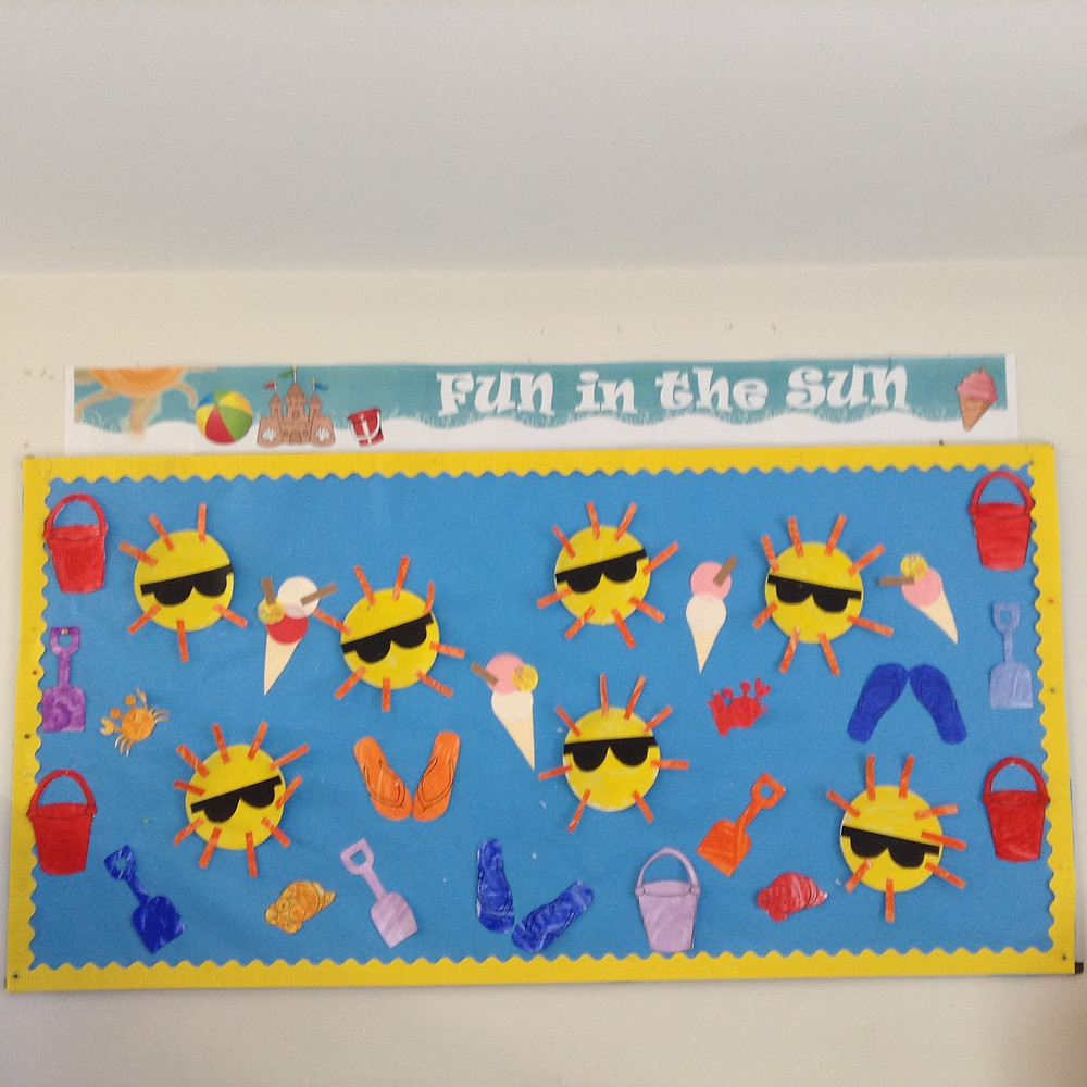 Our junior explorers are enjoying the great weather and made this super mural in their art class
