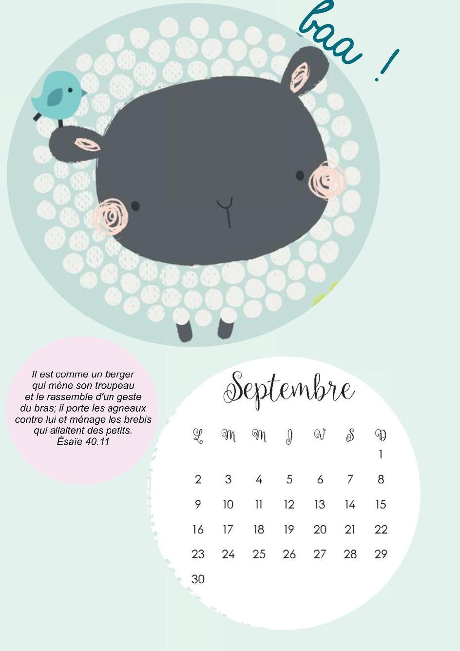 Septembre est là !!!