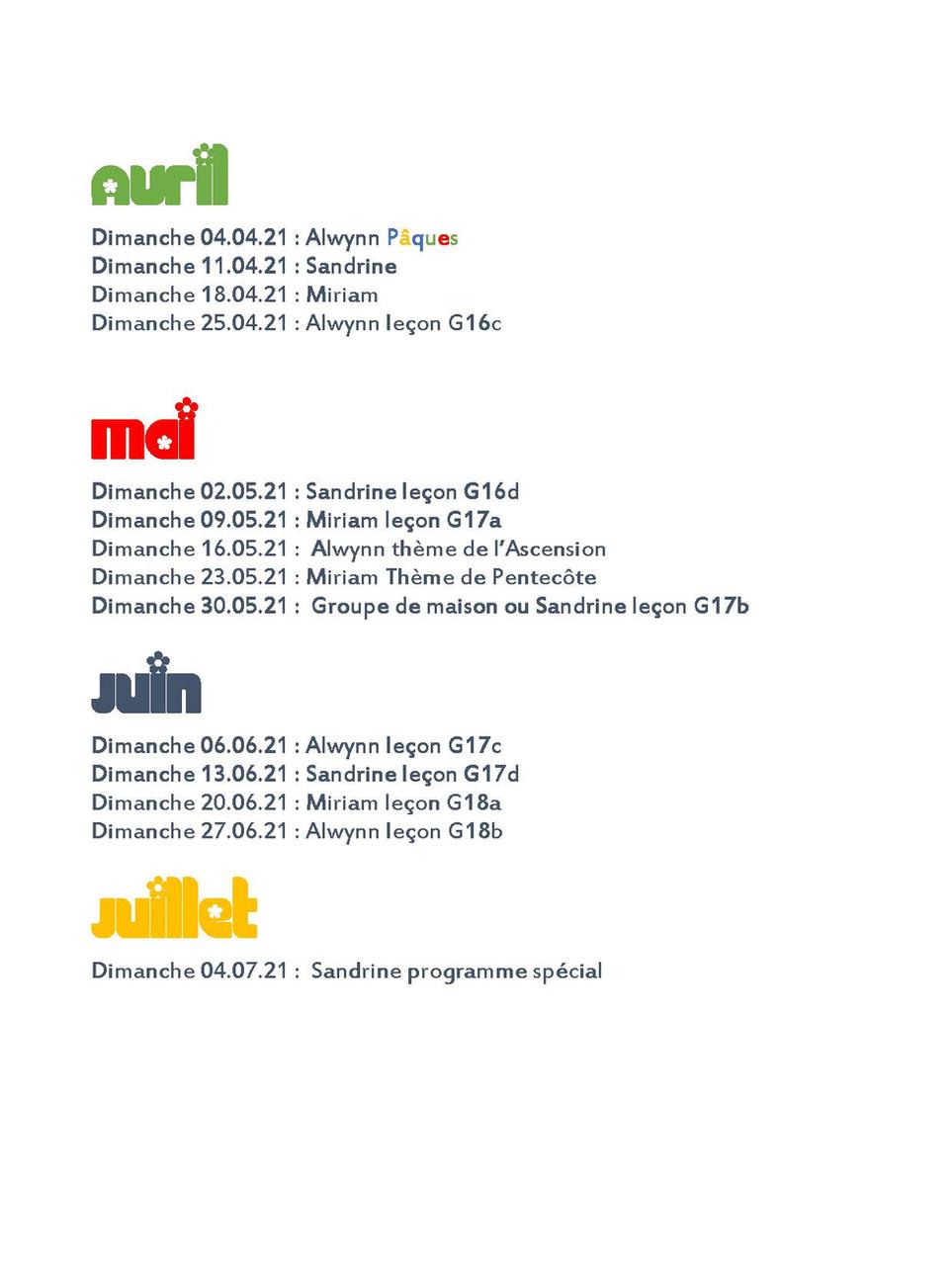Programme Indices Ciel