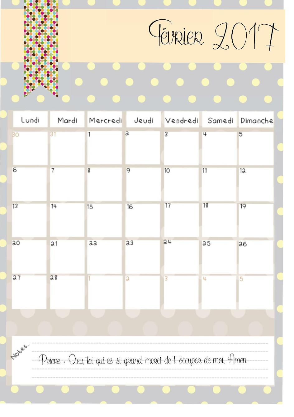 voici le mois de février !
