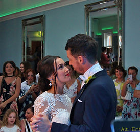 Bride & Groom First Dnace at Wedding. Photo Taken at Pendrell Hall Staffordshire by Alt. Entertinments Mobile DJ, Disco, Lighting & Events.