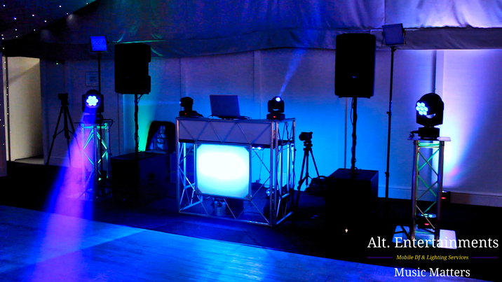 Alt. Entertainments DJ Setup for Wedding at Combermere Abbey, Whitchurch