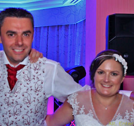 Couple at Wedding taken at Ardencote Manor Court Warwickshire. Alt. Entertainments Mobile DJ, Disco, Lighting and Events