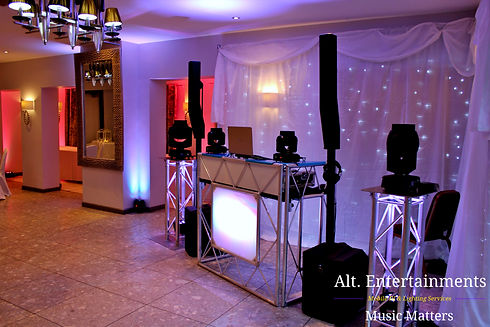 DJ, Disco & Proffesional Lighting setup at Barons Court Hotel, Walsall Wood, Walsall, West Midlands.
