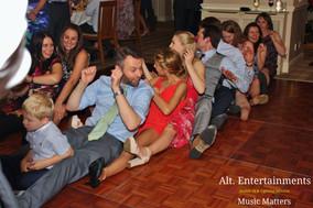 Wedding guests enjoying The Gap Band.