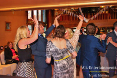 Happy Dancing Wedding Guests