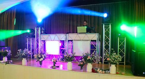 Full DJ, Disco & Proffesional Lighting Setup at wedding.