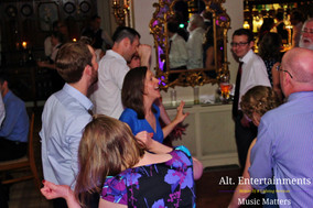 Wedding Guests having a great time on the dancefloor.