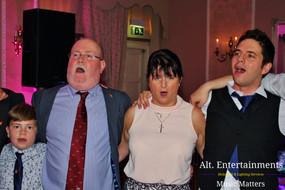 Family Enjoying time together at wedding.