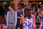 Packed dancefloor at wedding.