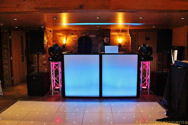 DJ & Disco Setup in Hundred House Wedding Venue, Shropshire.