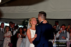 Bride & Groom First dance at Wedding Comberemere Abbey. DJ and Disco Services by Alt. Entertainments located in Walsall Wood near Lichfield & Sutton Coldfield.