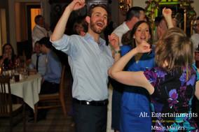 Joy at wedding reception