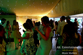 Guests dancing at Wedding Comberemere Abbey. DJ and Disco Services by Alt. Entertainments located in Walsall Wood nr Lichfield & Sutton Coldfield.