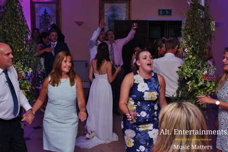 Wedding Guests Enjoying music & DJ