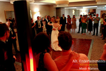 Bride and Groom enjoy their first dance at their beautiful wedding reception.