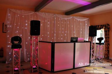 Beautiful Wedding DJ Set-up