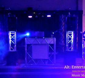 Dj Setup from Alt. Entertainments, Photo Taken in St. Marys Social Club, Cannock Staffordsire.