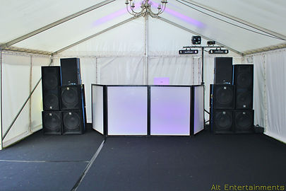 Large PA Used at Private Party, Mobile DJ Yoxall, Mobile Disco Yoxall, Mobile DJ Staffordshire, Mobile Disco Staffordshire. Alt. Entertainments (Mobile DJ, Disco And Events) BAsed in Walsall Wood nr Lichfield & Sutton Coldfield