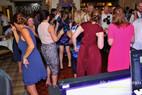 Wedding DJ tears up dance floor.