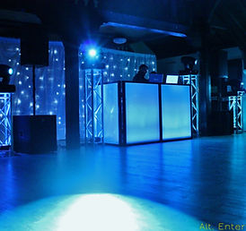 Alt. Entertainments Mobile DJ Setup at Worsley Village Hall Bridgenorth Shropshire. Alt. Entertainments Mobile Dj, Disco & Lighting located Walsall Wood near Lichfield.