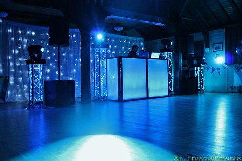 Dj, Disco & Full Proffesional lighting setup at a village hall in Bridgenorth, Shropshire.