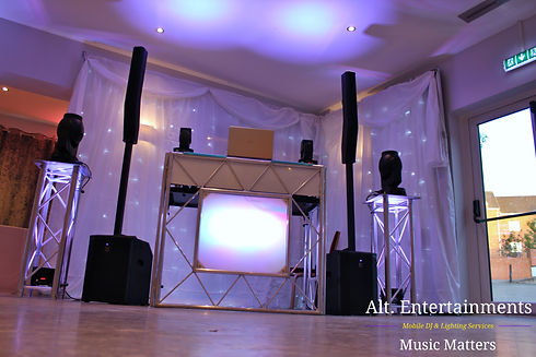 Dj, Disco & Professional Lighting setup at Barons Court Hotel, Walsall Wood, Walsall, West Midlands.