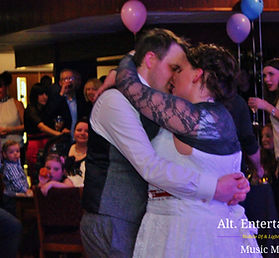 Bride and Groom First Dance at Fordhouses Cricket Club Tettenhall