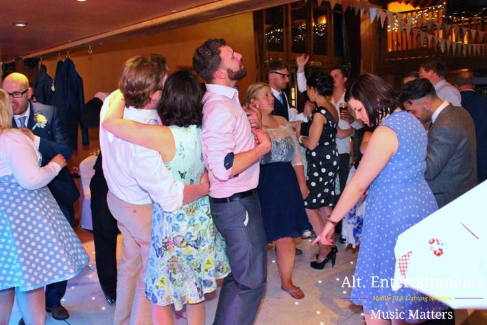 Indie Crowd enjoying Wedding Recption