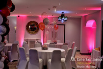 Setting the scene at Wedding Party in Walsall Wood