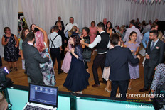 Crowd Dancing at Wedding