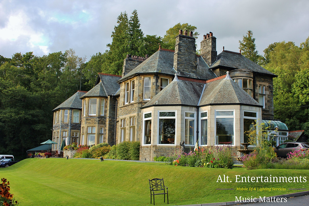 Alt. Entertainments Getting ready to DJ for a Wedding at Merewood Country House Hotel in the Lake District, Cumbria
