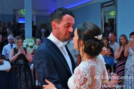 Bride and Groom Stare into ecah other eyes