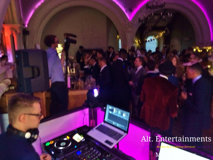 Wedding Party from the DJ Booth
