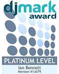 DJ Mark Platinum Award for DJs & Discos, awarded to Ian Bennett of Alt. Entertainments