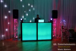 Mobile DJ Set-Up at Wedding
