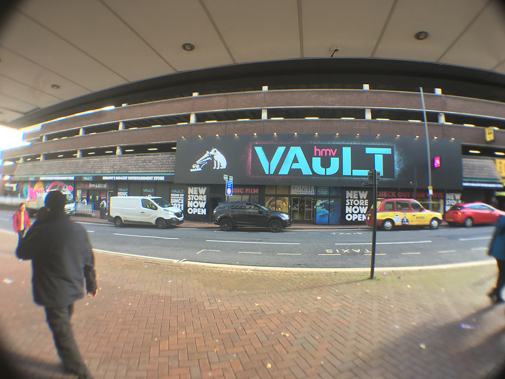 HMV The Vault with Super wide angle lens