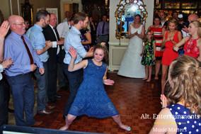 Wedding DJ arranges people to bust some moves on Dance floor