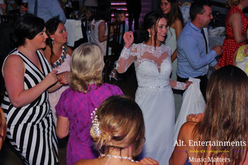 Bride and Wedding Guests