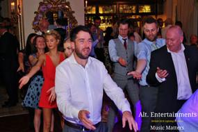 Wedding Guests dancing the macarena.