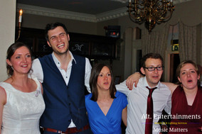 Bride frriends and Family at the end of the night at Merewood Country Hotel.
