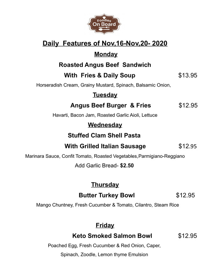Daily Feature Nov,16-Nov,20,2020
