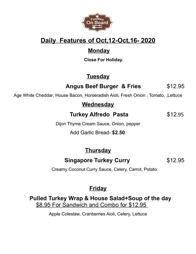 Daily Feature Oct,12-Oct,16