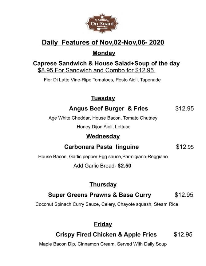 Daily Feature Nov,02-Nov,06,2020